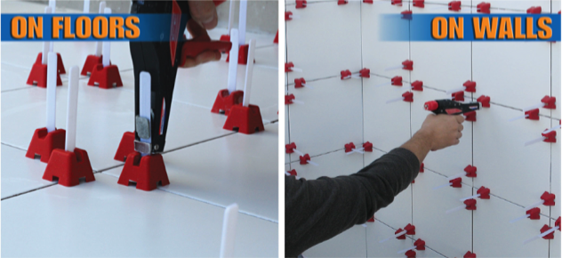 First Truly Simple Tile Leveling System Which Virtually Eliminates
