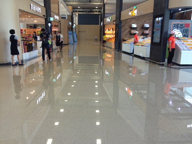 Tuscan Leveling System, international, airport, commercial installation, South Korea