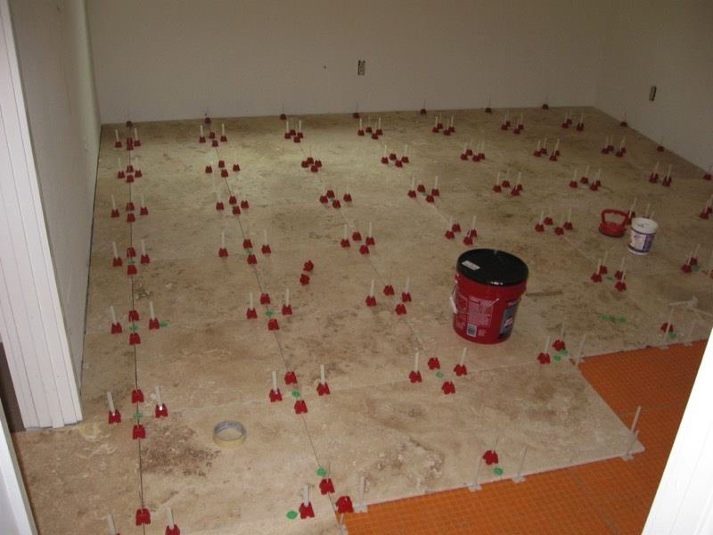 Tuscan SeamClip, Tuscan Seam Clip, Tuscan Leveling System, commercial installation, large format ceramic 24
